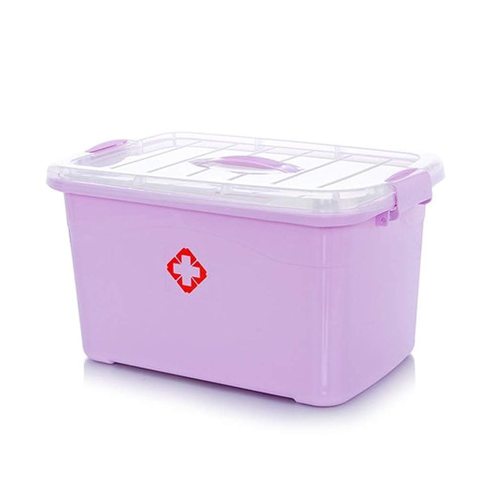計器金額ジレンマYQCS●LS プラスチック二重層医療収納ボックス多機能医療収納ボックスホームパーティション付きポータブル救急箱