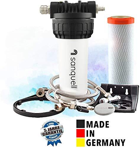 sanquell Wasserfilter Solo Untertisch für Küche mit Hochleistungs-Filterpatrone Superpure Plus, Made in Germany, 5 Jahre Garantie, modular erweiterbar