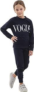 Hi Fashionz Girls Vogue Tracksuit 2 Piece Printed Loungewear Kids Top Bottoms Set Jogger Co Ord Set 7-13