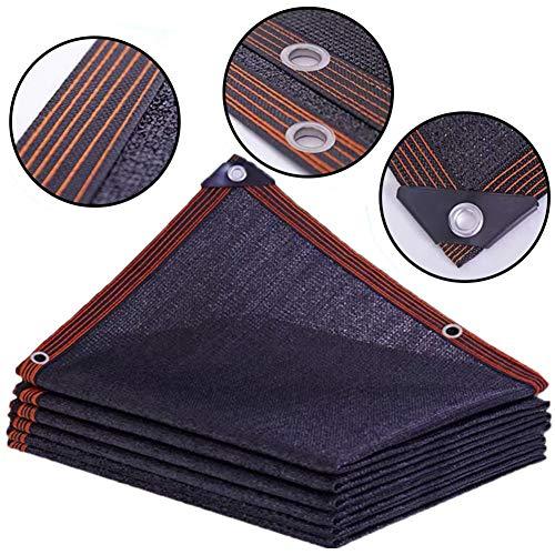 Markisen Beschattungsnetz Schwarzes Tuch für Dächer, UV-beständige Camping-Sonnenschutz mit Verstärkter Kante, 5 M / 6 M / 8 M Breit (Size : 5×7m(16×23 ft))