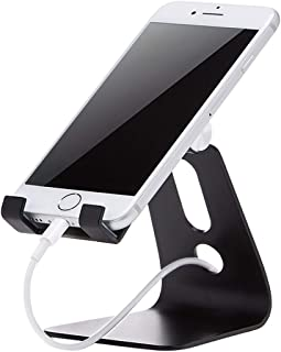 Phone Case Stand Car Mount AmazonBasics Cell Phone Stand for iPhone and Android | Silver,Colour Name:Silver,Style Name:Adjustable قضية لهاتف حامل سيارة جبل (Color : Black)