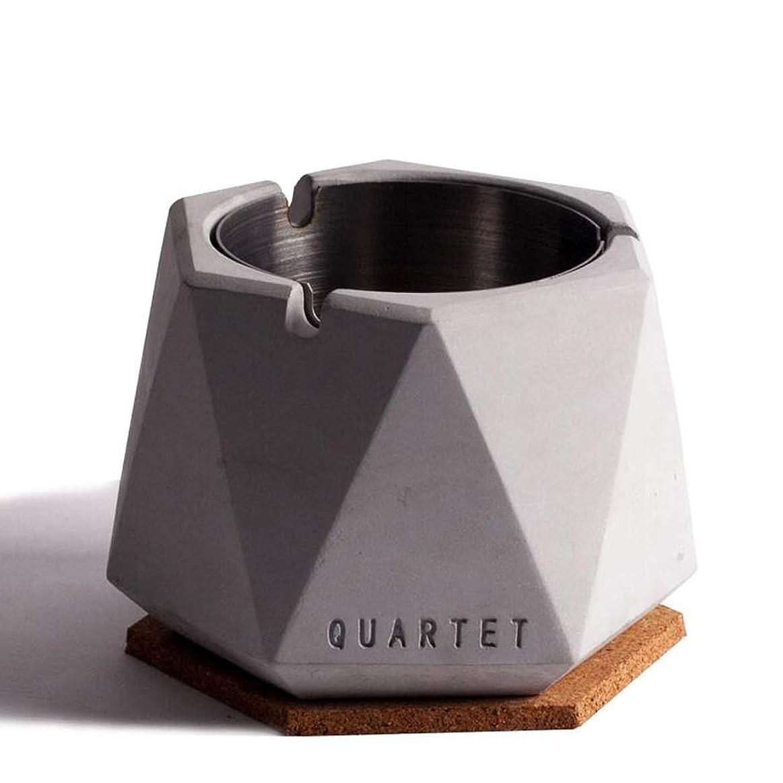 分離モディッシュフォロー北欧シンプル風ステンレス鋼セメント灰皿人格クリエイティブホテルインターネットカフェバー北欧産業風ふた付き灰皿 QYSZYG (Color : C)