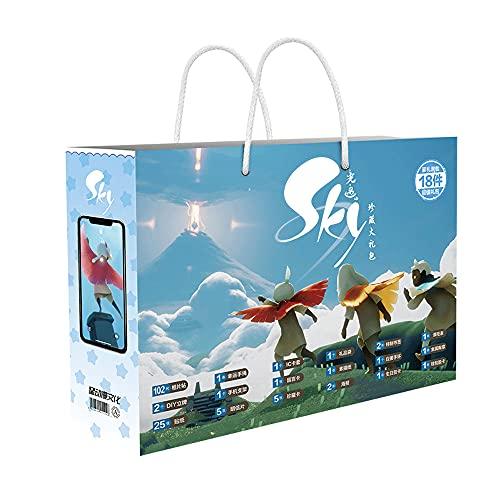 CHEONGS Sky: Children of Light/Juego de Caja de Regalo de Anime/Periferia de Anime/Taza de Agua/Colgante/Mini Espejo Redondo/Insignia de Metal/Pegatina para refrigerador/Postal/Tarjeta/Mar
