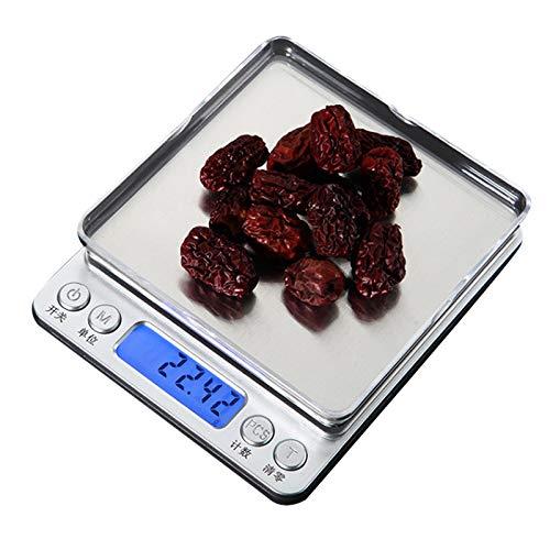 0,01/0.1g Precision LCD digitale weegschaal 500g / 1/2/3 kg Mini Elektronische Gram Gewicht Balance Scale for Tea Baking weegschaal,500g/0.01g