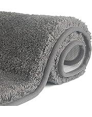 FCSDETAIL Antislip, hoogpolige badmat, machinewasbare badmat met waterabsorberende, zachte microvezels, voor badkuip, douche en badkamer