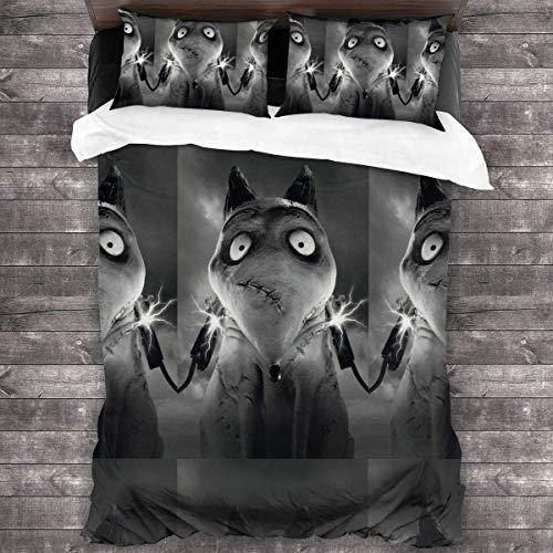 Sparky Dog Flash - Set di biancheria da letto con copriletto trapuntato e 3 pezzi (218,4 x 177,8 cm)