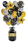 BIGIEMME orkidea Party – Bombona de helio de Estados Unidos y tirar 0,23 MC New Year Edition con balones de aluminio y látex