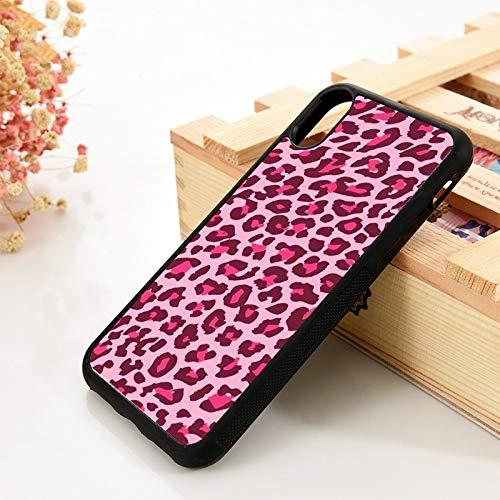 WGOUT para iPhone 5 5S 6 6S Funda de Gel de sílice de TPU Suavepara iPhone 7 Plus X XS 11 Pro MAX XRFundade teléfono con Estampado de Leopardo, para iPhone 8 Plus