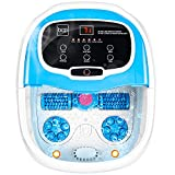 Best Choice Products Automatic Foot Bath Spa Heated Shiatsu Massage Foot Spa w/Pumice Stone, Portable, Adjustable Heat, Water Jets, Rollers, Waterfall, Acupuncture Points - Blue