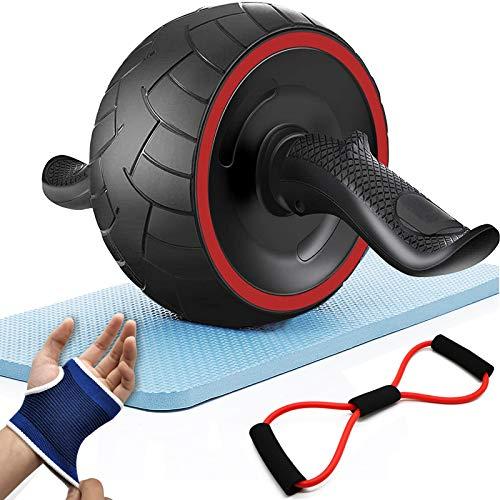 Salud 腹筋ローラー アブホイール アブスライダー トレーニンググローブ/マルチチューブ/膝マット付き 耐荷重200KG 超静音 自動リバウンド式 アシスト機能 トレーニング器具 スリムトレーナー 男女兼用