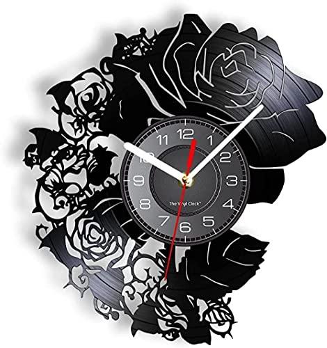 GVSPMOND Disco de Vinilo Reloj de Pared Reloj de Pared de Vinilo...