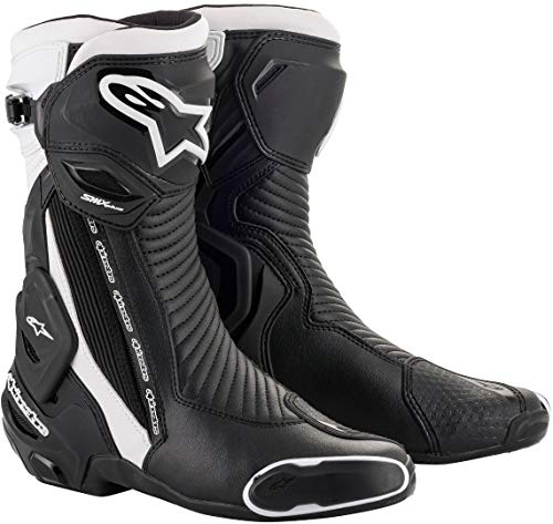 Alpinestars Motorradstiefel Smx Plus V2 Boots Black White, Schwarz/Weiß, 46