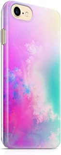 """iPhone 7 Case iPhone 8 Case(4.7"""") uCOLOR Abstract Cloud TPU Dual Layer Protective Case for iPhone 7/8 with Slim Tempered Glass Screen Protector"""