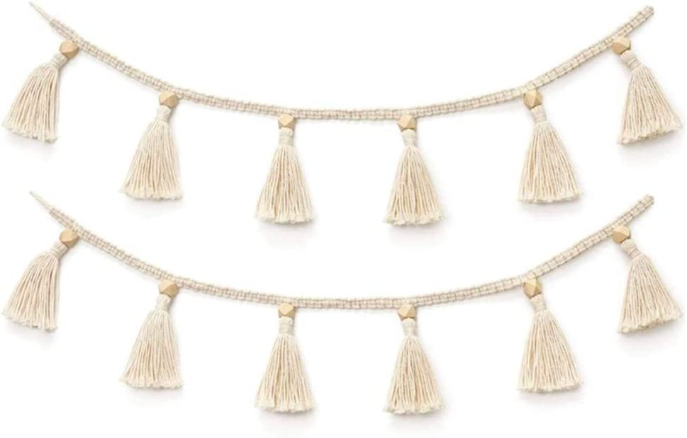 ZanLa Wall-Hanging Fountains Handmade Garland Woven Tassel Credence Challenge the lowest price of Japan ☆ Wood