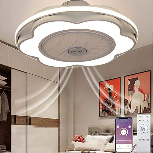 Ventiladores de Techo con Luz y App Control Remoto Mando LED Lámpara de Techo de Dormitorio Modernos Regulable Silencioso Fan Lámpara Colgante para InfantilDormitorio Salón Ø60CM