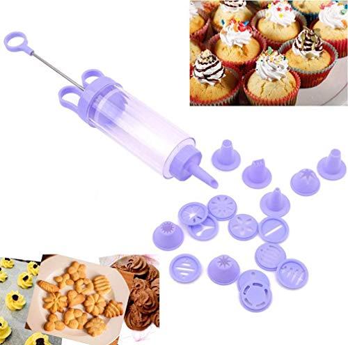 BOBOZHONG Gebäckspritze Press Blumenpistole, Keksmaschine Ideal für die Herstellung von süßen und herzhaften Keksen,das Dekorieren von Kuchen, Desserts, Sandwiches,das Füllen von Donuts usw.
