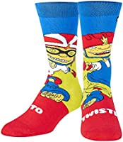 Odd Sox, Unisex, Nickelodeon, Retro Nick Cartoons, Crew Socks, Novelty Cool 90's