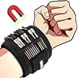 Magnetic Wristbands, Dr.meter 18.9 Inch Length Magnetic Wrist Bands Tool Belt with Super Strong 15 Magnets, Best Christmas Birthday Holiday Gifts for Your Dad Boyfriend DIY Handyman Husband