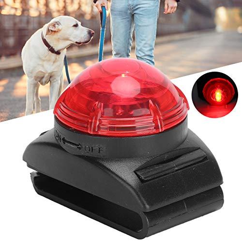 Haowecib Lámpara de Advertencia de Seguridad, Collar para Perro de Alto Brillo, luz, transmisión de luz Alta, Accesorios para Perros para Perros de Noche(Red Light)