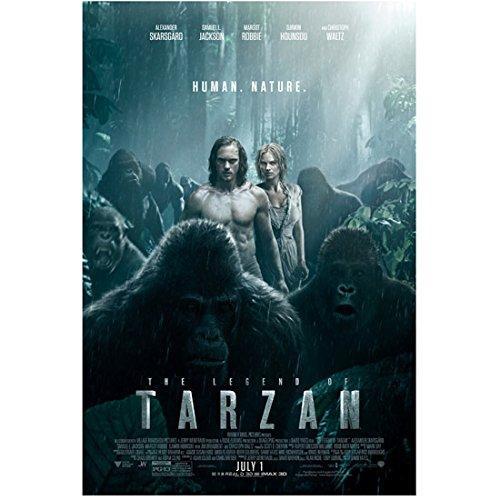 The Legend of Tarzan (2016) 8 inch by 10 inch PHOTOGRAPH Alexander Skarsgard & Margot Robbie  Human. Nature.  kn