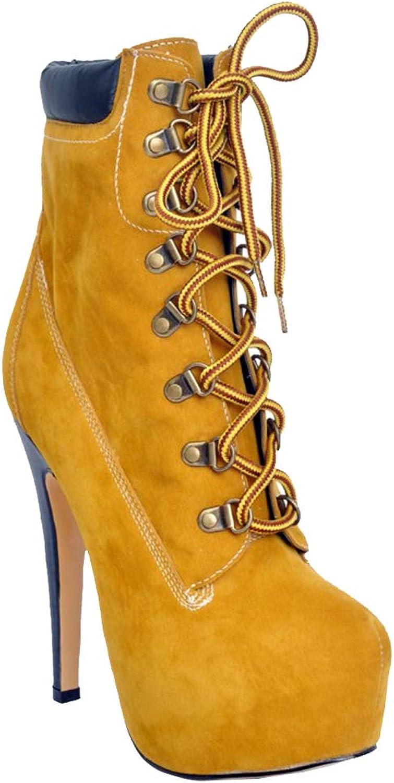 CASOCK Ladies Handgjorda Handgjorda Handgjorda hög klack Ankle stövlar Lace -up Winter Daily Walk Mode Booslipss skor  nyhetsartiklar