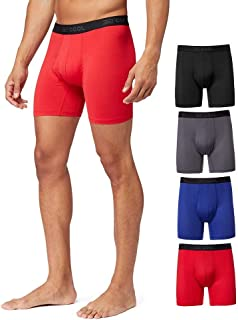 COOL Mens 4-PACK Active Mesh Quick Dry Performance Boxer...