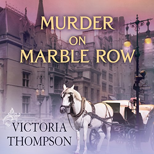 Murder on Marble Row audiobook cover art