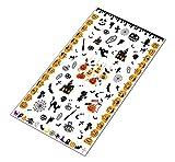 AWS Foglietto 6x10 cm Nail Art Halloween Water decals unghie adesivi spider strega Sheet stickers transfer pipistrelli zucca (Zucche Halloween)