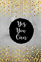 Yes You Can: Black/Gold Stars, 100 Lined Pages, Daily Notebook, Journal, Diary (6