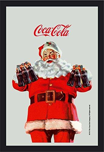 empireposter Coca Cola Santa Claus de Miroir – Miroir imprimé avec Cadre en Plastique façon Bois 20 x 30 cm