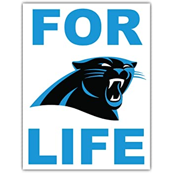 qualityprint Carolina Panthers Love NFL Sport Decor Bumper Vinyl Sticker 14 X 12