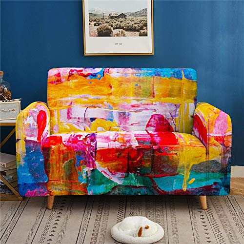 Single-Sided Digital Printing Sofa Cover, Dust-Proof, Non-Slip High Elastic Sofa Cover, Universal 1 2 3 4 Seater
