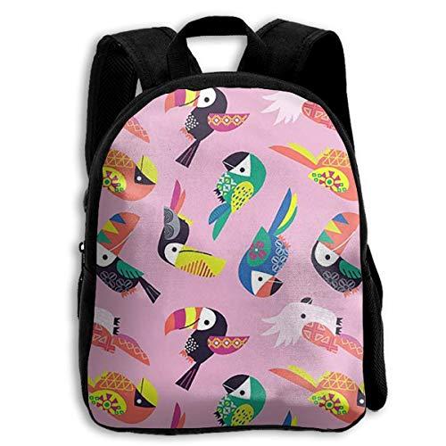 jenny-shop Parrot Pattern Toddler Backpack 13 'Sacs à Dos d'école pour Enfants pour garçons et Filles