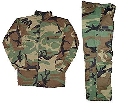Military Outdoor Clothing Woodland Chemical Suit, 3X-Small