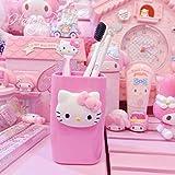 Hello Kitty parejas de lavado taza de cepillo de dientes de baño...