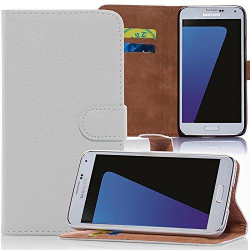numerva HTC Desire 310 Hülle, Schutzhülle [Bookstyle Handytasche Standfunktion, Kartenfach] PU Leder Tasche für HTC Desire 310 Wallet Hülle [Weiss]