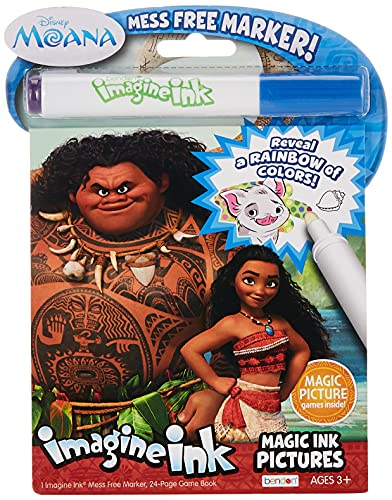 Disney Moana 24-Page Imagine Ink Game Book with Imagine Ink Marker, 73581 Bendon