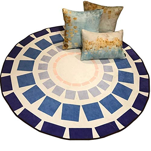 Elise tapijt, rond, antislip, voor slaapkamer, woonkamer
