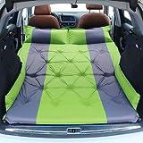 Colchón de aire automático para coche que acampa colchoneta para dormir para soplar la cama inflable de viaje colchón elevado con alas (verde)