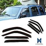 RUIANG VOYAGE Fit 02-07 Jeep Liberty 4pcs Front & Rear Smoke Sun/Rain Guard Vent Shade Window Visors