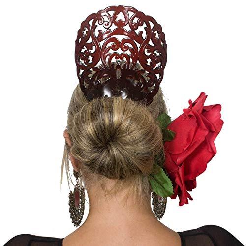 Ole Ole Flamenco Comb for Hair Concha Brown Flamenco Dancer Spanish Combs Peineta Flamenco Marron Ornamental Hair Pins