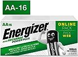 Energizer AA Akkus, Recharge Power Plus Akku, 16 wiederaufladbare Batterien AA