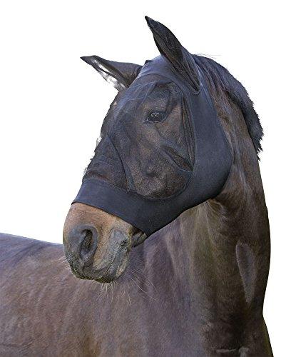 Kerbl 325838 Fliegenschutzmaske Fino Strech WB, schwarz