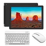 Tablet 10 Pollici Android 4G Wifi Offerte 3GB RAM 32GB ROM Quad-core Tablet PC con Tastiera e mouse - Dual Sim Bluetooth GPS OTG - Nero