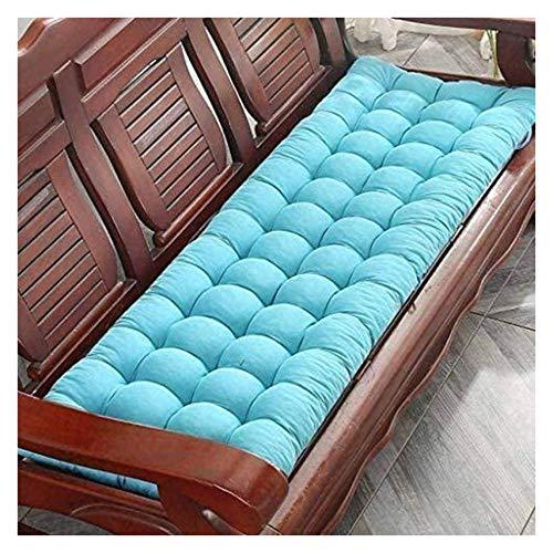 Garden Bench Kudde, Solstolar Kuddar, Glidningssäte Träbänk Sittkudde För Inomhus Uteplats Swing,Blue-48×120cm