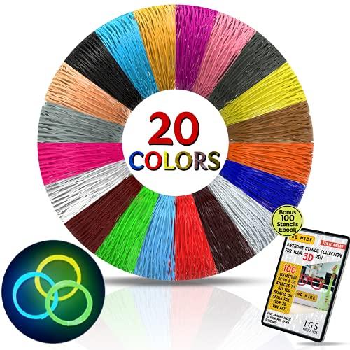 Recambios para bolígrafo 3D - BONUS 100 bolígrafos de recambio para libros y 3 bolígrafos en los colores oscuros