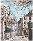 ZXlDXF Adults Children Beginners use Paint by Numbers Kits to DIY Digital Oil Paintings Including Brushes and Paints 4050 inches Home Wall Decoration Crafts European Style Retro Small Town