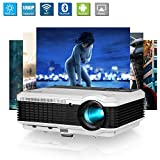 WiFi LCD Proyector 1080P HDMI Android 4500 Lumen Multimedia Proyector Cine en casa LED...