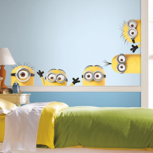 RoomMates - RMK3567GM Despicable Me 3 Peeking Minions Giant Peel And Stick Wall Decals,Multicolor