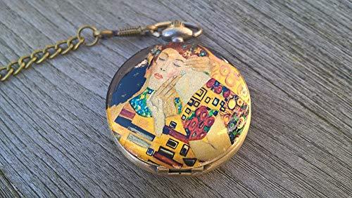 Taschenuhr Klimt Kuss